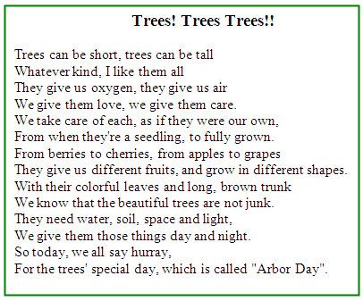 An inspiring tree poem planting trees in Israel